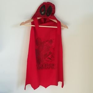 Spiderman head cape 3 to 5 year old